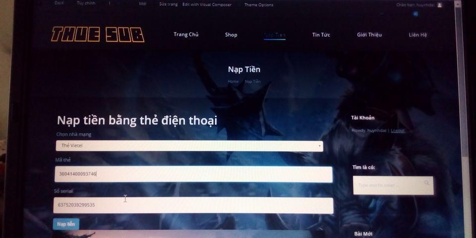 tich hop thanh toan the cao dien thoai